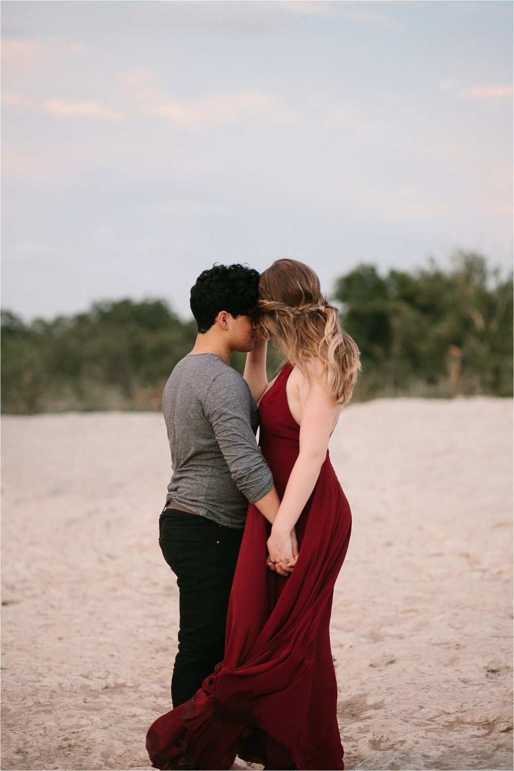 Romantic Austin, Texas Engagement Session with outfit inspiration + flowy red dress from Lulu's at Mckinney Falls State Park by North Texas Wedding Photographer, Rachel Meagan Photography __ 52