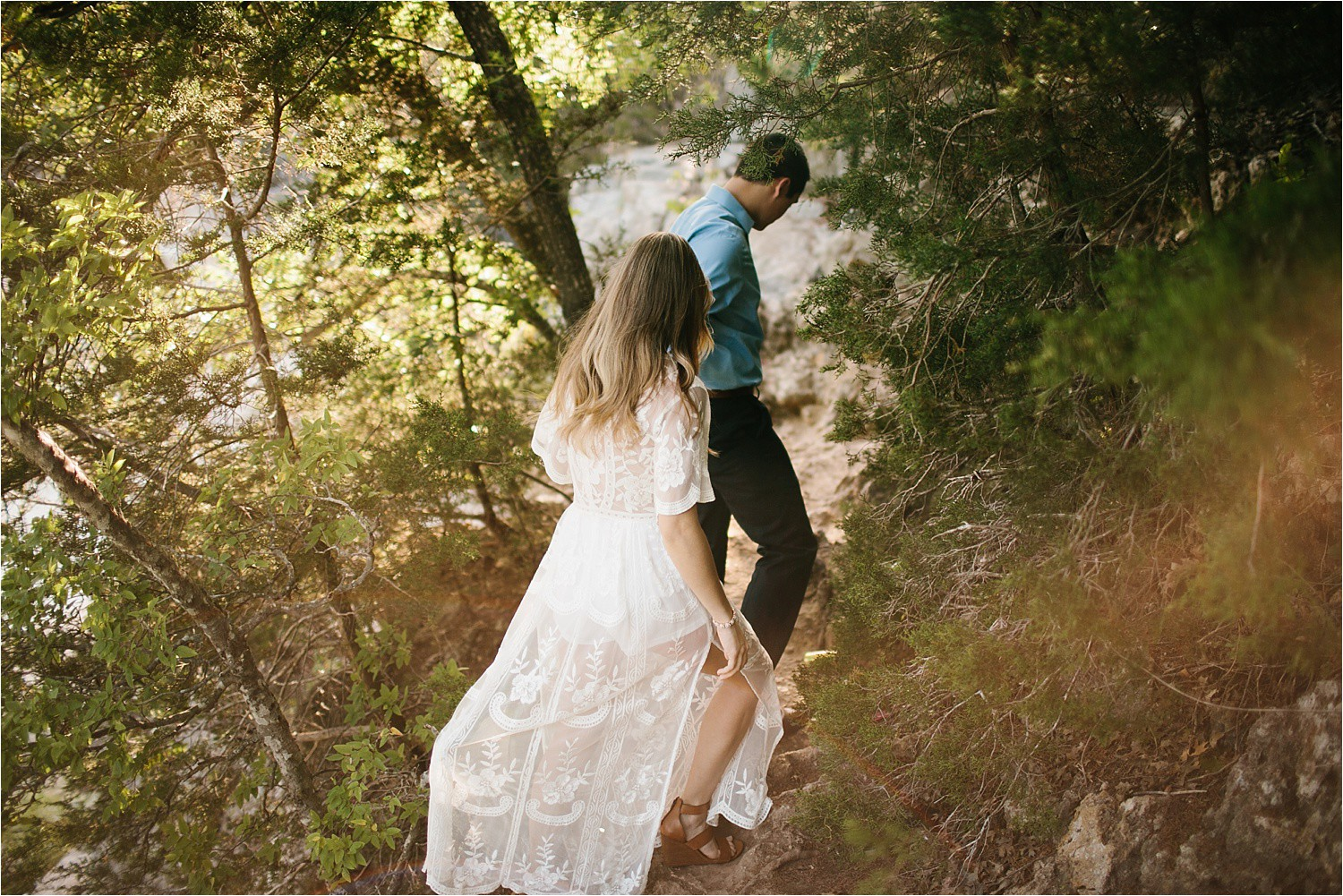 a romantic, adventurous engagement session at Turner Falls in Oklahoma by North Texas Wedding Photographer, Rachel Meagan Photography _ 01