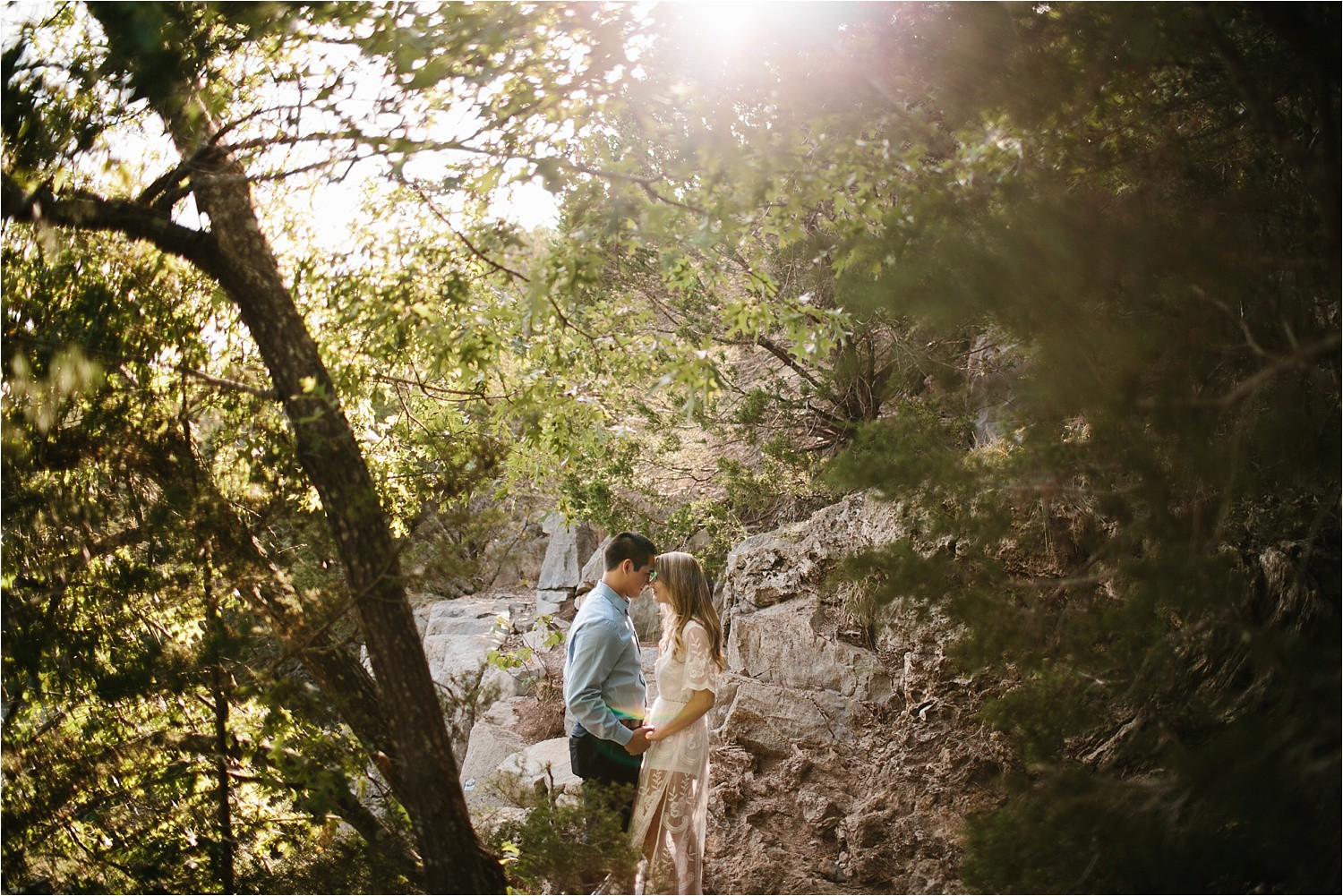a romantic, adventurous engagement session at Turner Falls in Oklahoma by North Texas Wedding Photographer, Rachel Meagan Photography _ 02