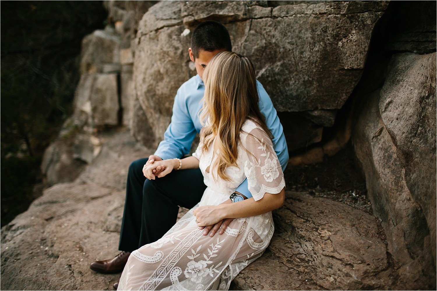 a romantic, adventurous engagement session at Turner Falls in Oklahoma by North Texas Wedding Photographer, Rachel Meagan Photography _ 05