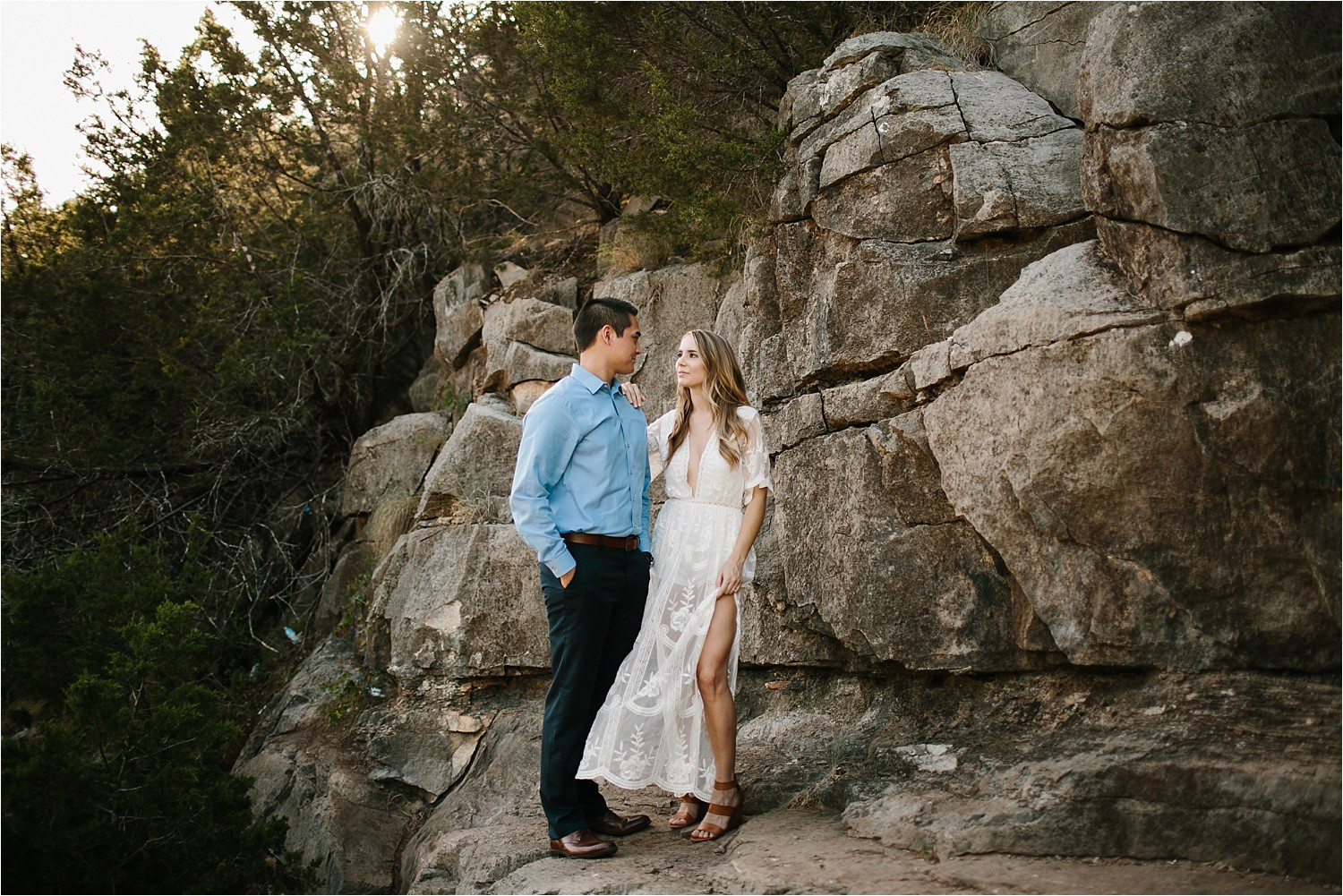 a romantic, adventurous engagement session at Turner Falls in Oklahoma by North Texas Wedding Photographer, Rachel Meagan Photography _ 08