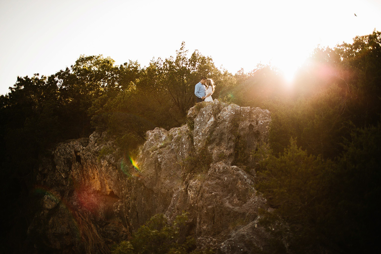 a romantic, adventurous engagement session at Turner Falls in Oklahoma by North Texas Wedding Photographer, Rachel Meagan Photography _ 17