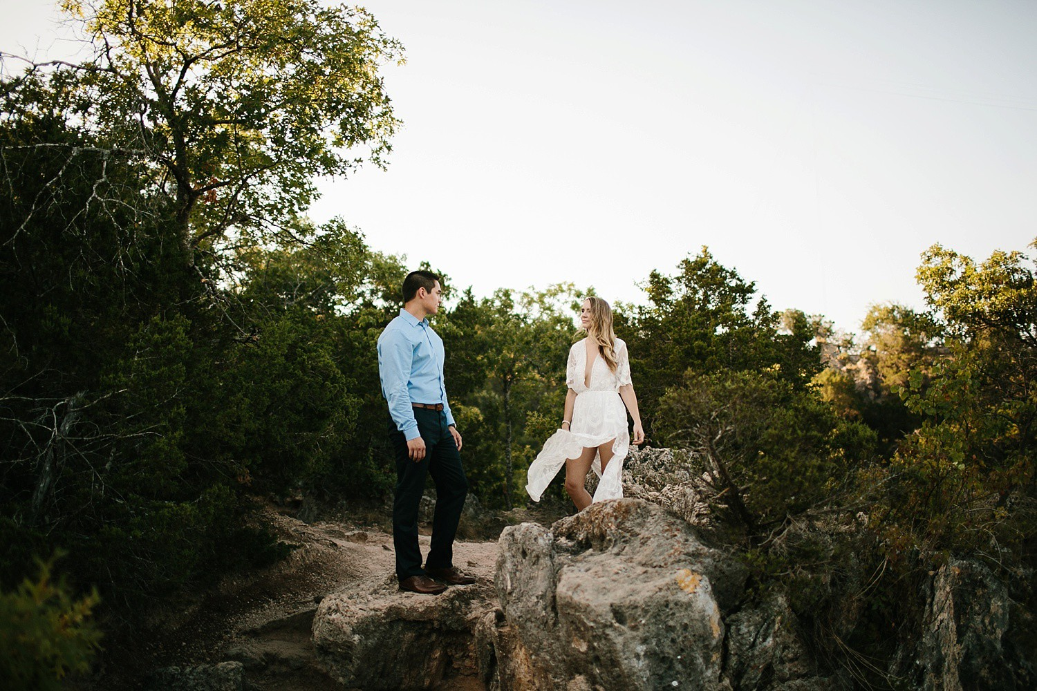 Blake + Jennifer || an adventurous Turner Falls engagement session
