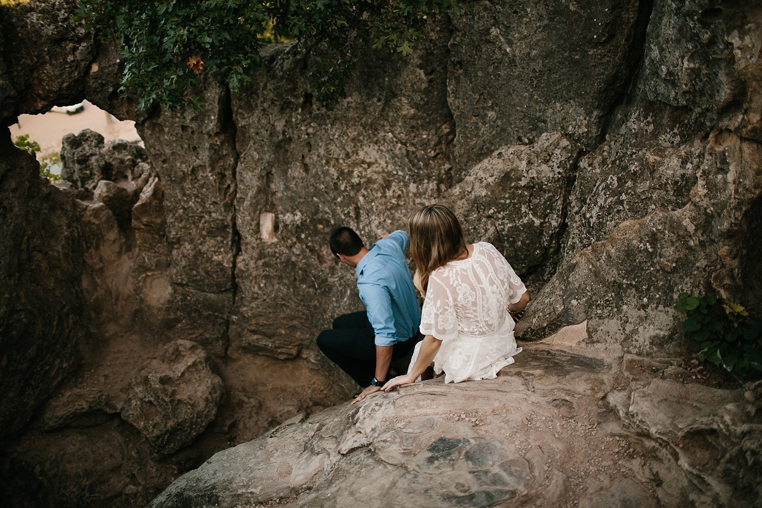 a romantic, adventurous engagement session at Turner Falls in Oklahoma by North Texas Wedding Photographer, Rachel Meagan Photography _ 26