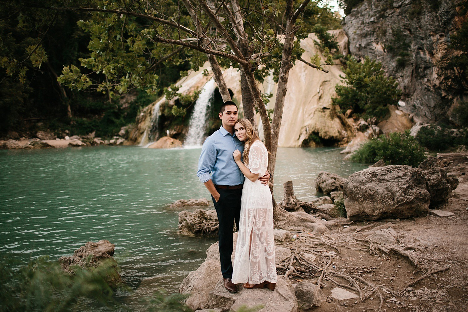 a romantic, adventurous engagement session at Turner Falls in Oklahoma by North Texas Wedding Photographer, Rachel Meagan Photography _ 40