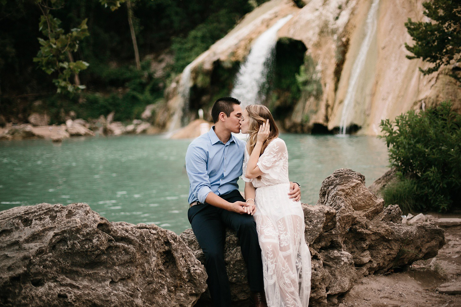 a romantic, adventurous engagement session at Turner Falls in Oklahoma by North Texas Wedding Photographer, Rachel Meagan Photography _ 45