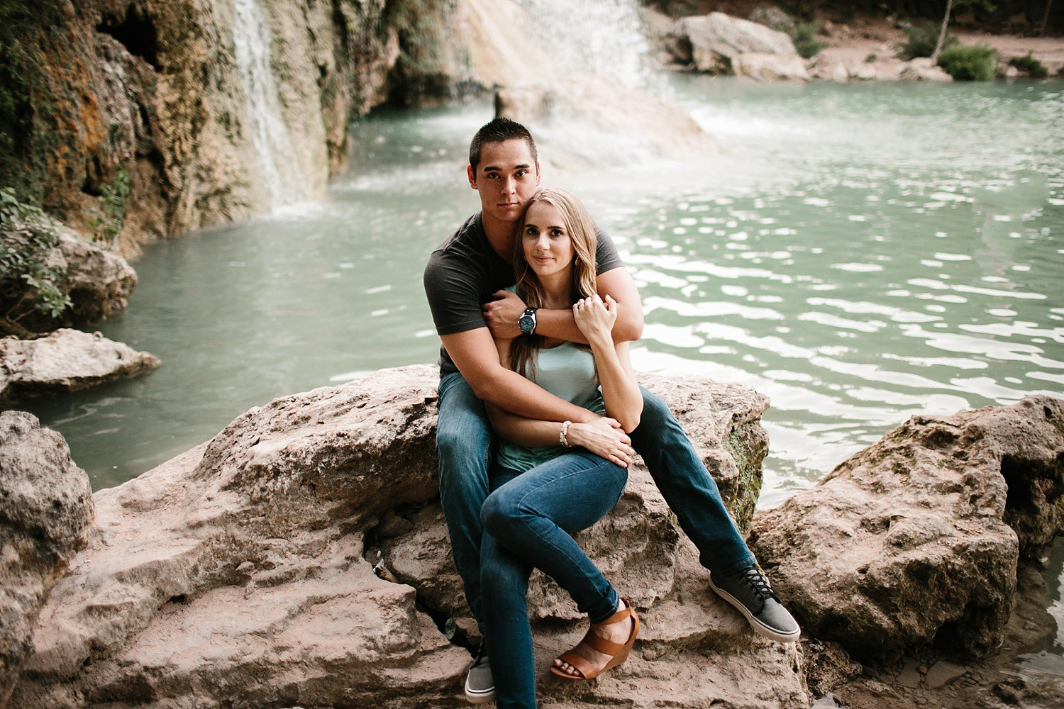 a romantic, adventurous engagement session at Turner Falls in Oklahoma by North Texas Wedding Photographer, Rachel Meagan Photography _ 48