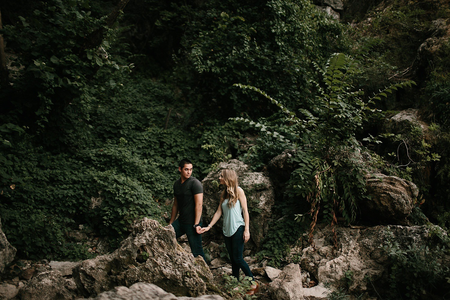 a romantic, adventurous engagement session at Turner Falls in Oklahoma by North Texas Wedding Photographer, Rachel Meagan Photography _ 50