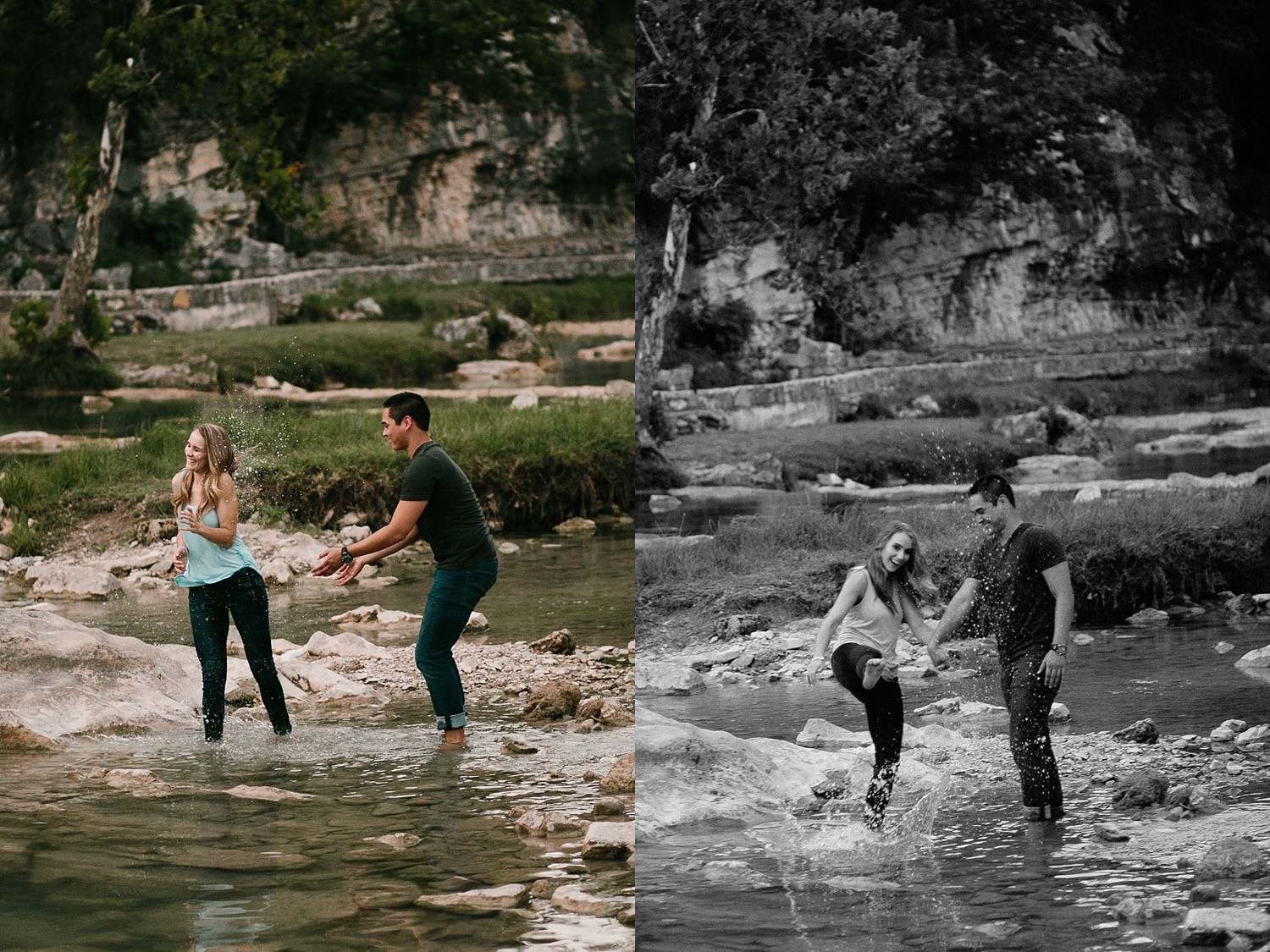 a romantic, adventurous engagement session at Turner Falls in Oklahoma by North Texas Wedding Photographer, Rachel Meagan Photography _ 52