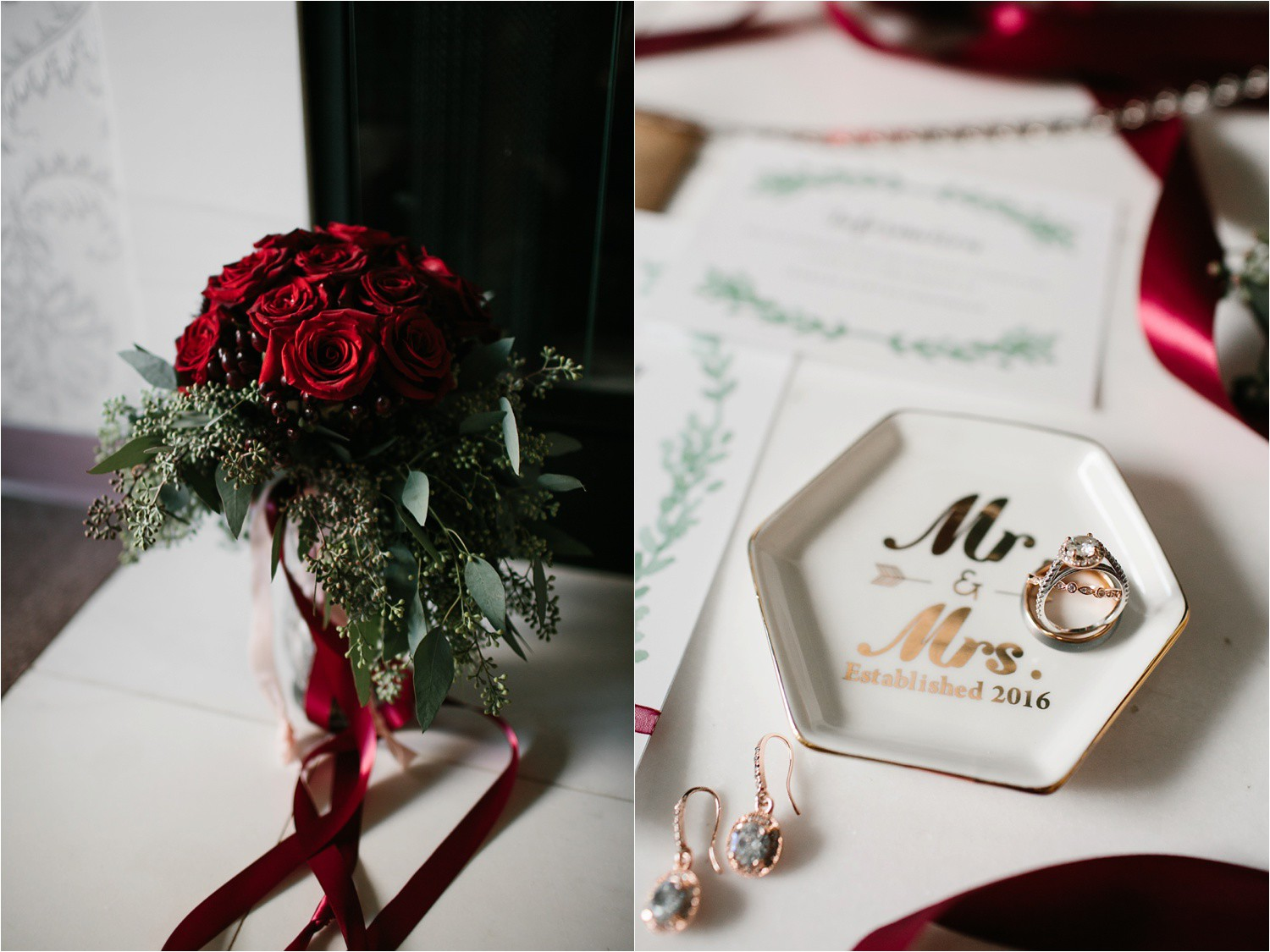 Alaina + Josh __ a wintertime wedding in Houston, TX with Christmas accents and a BHLDN dress by North Texas Wedding Photographer Rachel Meagan Photography _ 02