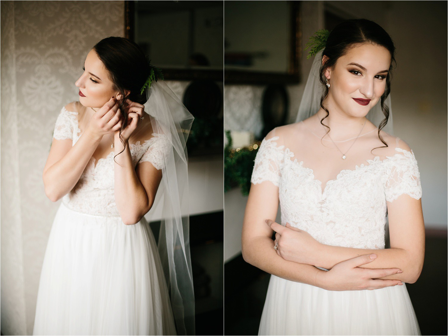 Alaina + Josh __ a wintertime wedding in Houston, TX with Christmas accents and a BHLDN dress by North Texas Wedding Photographer Rachel Meagan Photography _ 06
