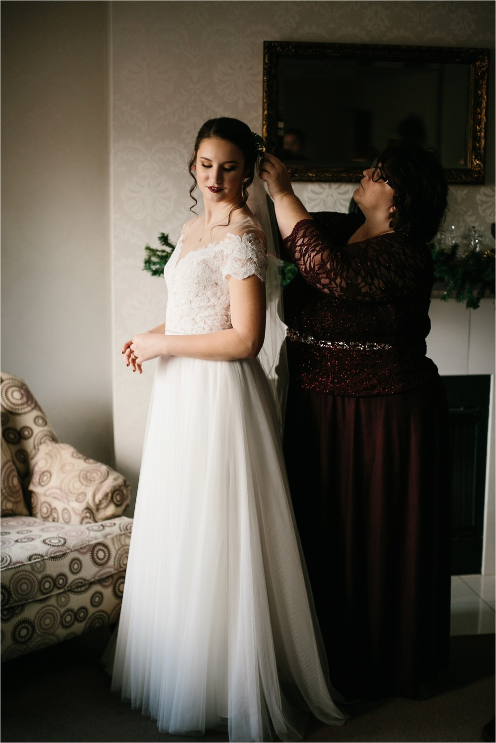 Alaina + Josh __ a wintertime wedding in Houston, TX with Christmas accents and a BHLDN dress by North Texas Wedding Photographer Rachel Meagan Photography _ 08
