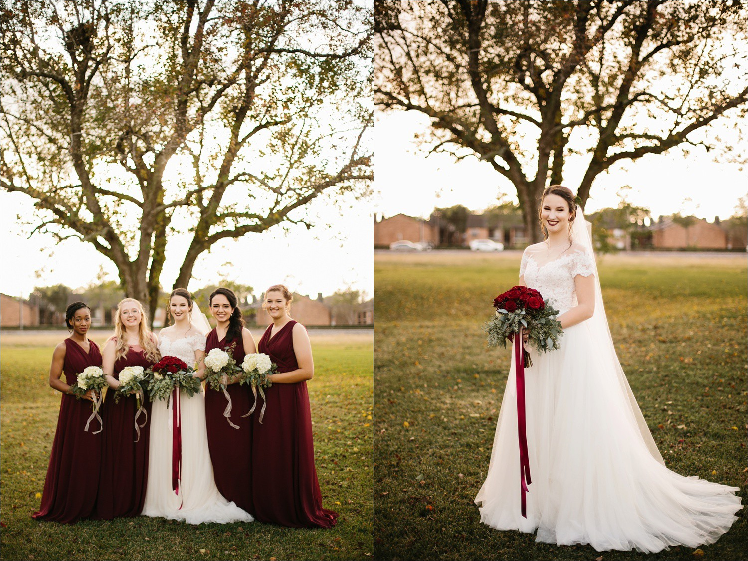 Alaina + Josh __ a wintertime wedding in Houston, TX with Christmas accents and a BHLDN dress by North Texas Wedding Photographer Rachel Meagan Photography _ 12