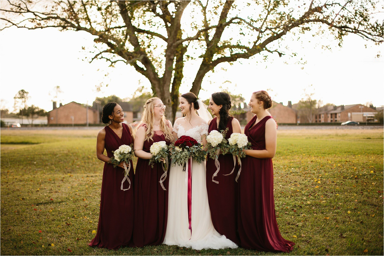 Alaina + Josh __ a wintertime wedding in Houston, TX with Christmas accents and a BHLDN dress by North Texas Wedding Photographer Rachel Meagan Photography _ 13