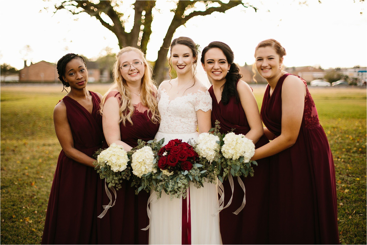 Alaina + Josh __ a wintertime wedding in Houston, TX with Christmas accents and a BHLDN dress by North Texas Wedding Photographer Rachel Meagan Photography _ 14