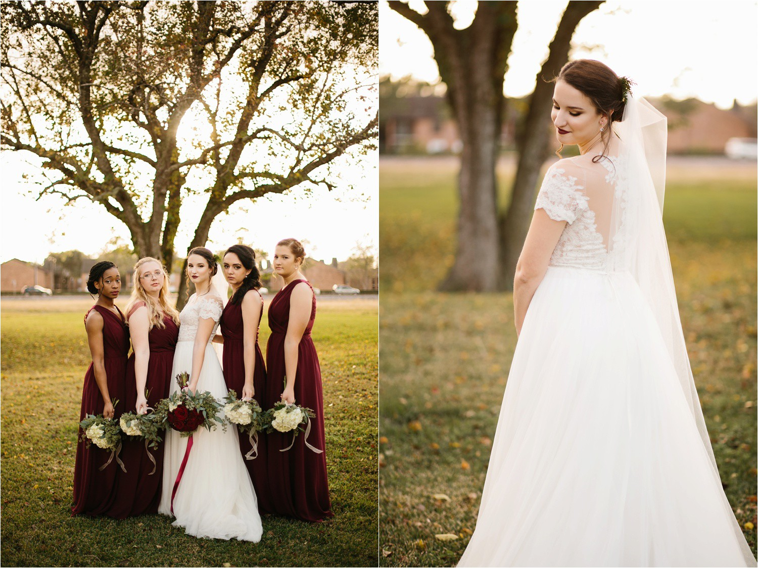 Alaina + Josh __ a wintertime wedding in Houston, TX with Christmas accents and a BHLDN dress by North Texas Wedding Photographer Rachel Meagan Photography _ 15