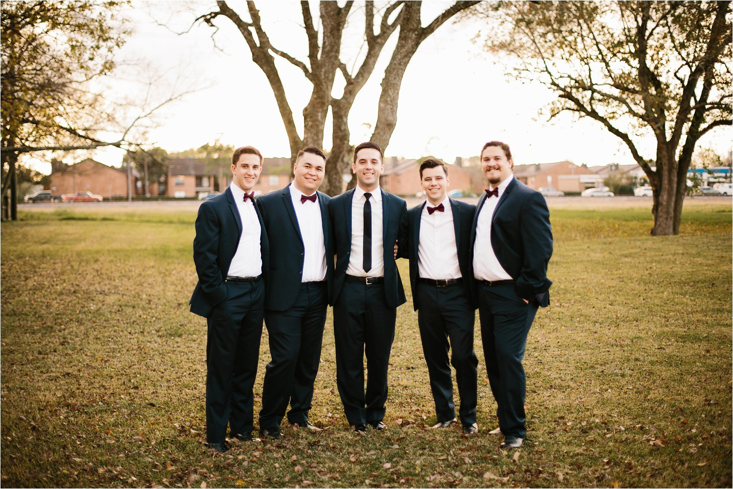 Alaina + Josh __ a wintertime wedding in Houston, TX with Christmas accents and a BHLDN dress by North Texas Wedding Photographer Rachel Meagan Photography _ 22