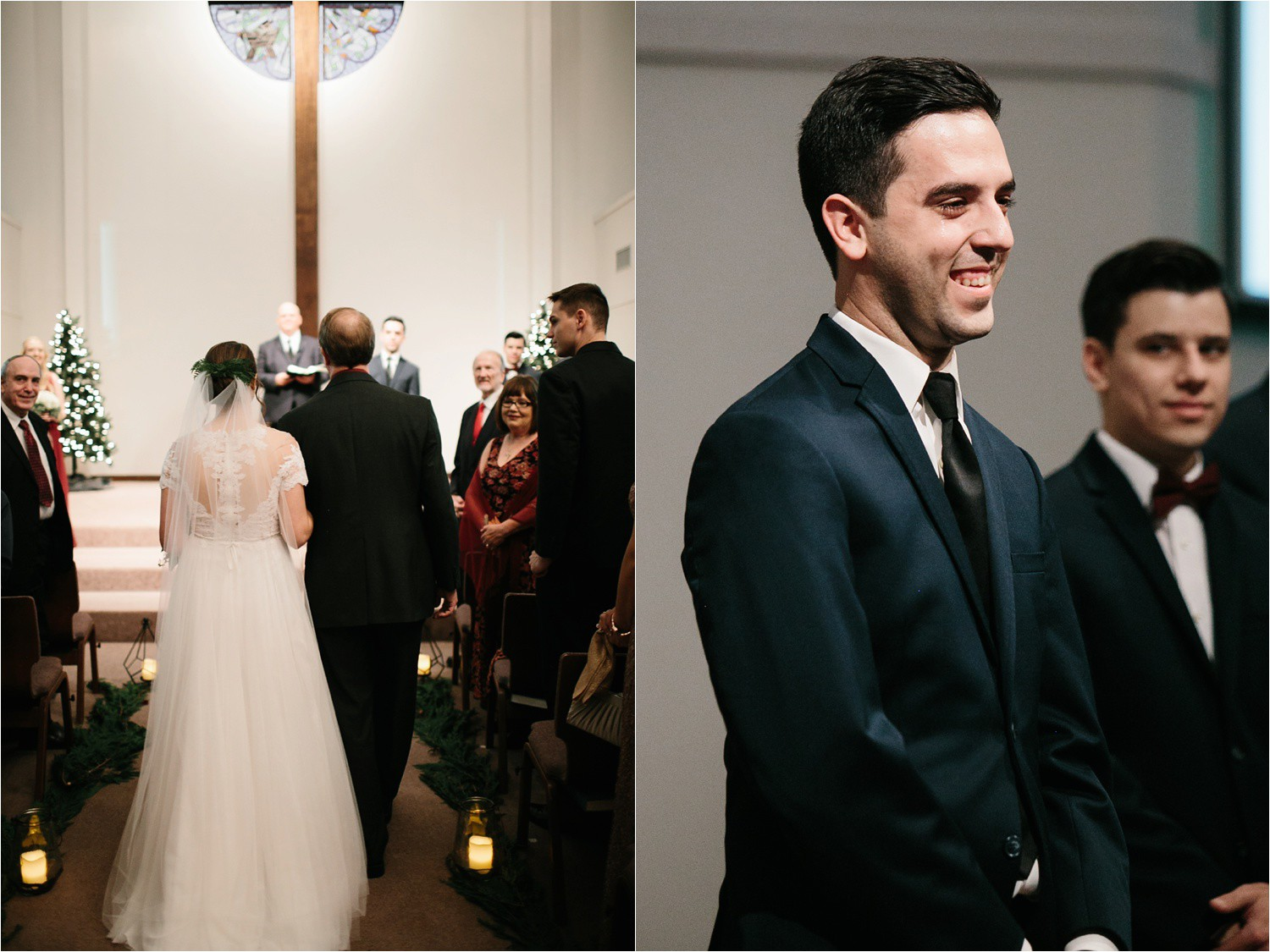 Alaina + Josh __ a wintertime wedding in Houston, TX with Christmas accents and a BHLDN dress by North Texas Wedding Photographer Rachel Meagan Photography _ 34