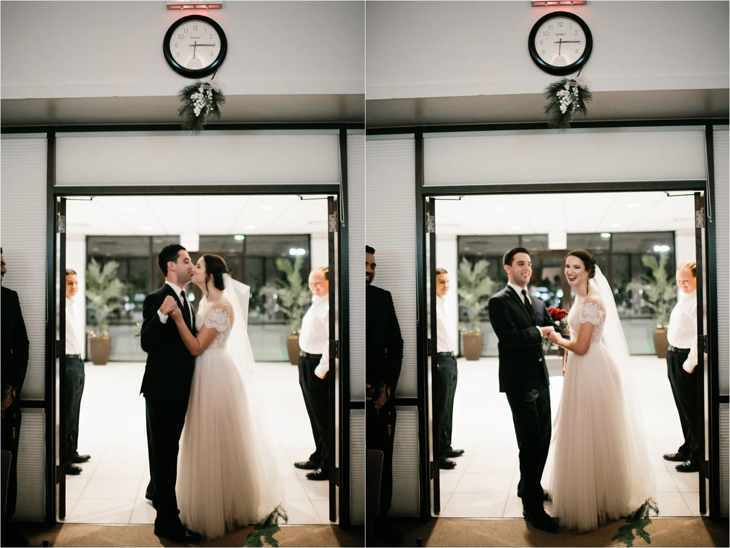Alaina + Josh __ a wintertime wedding in Houston, TX with Christmas accents and a BHLDN dress by North Texas Wedding Photographer Rachel Meagan Photography _ 46