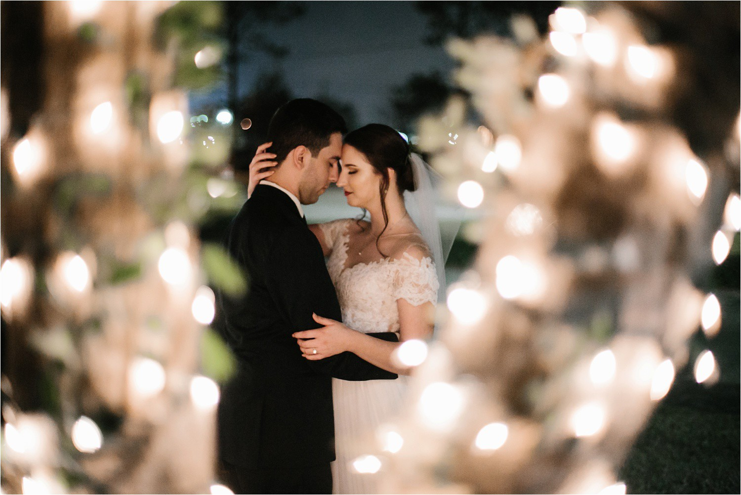 Alaina + Josh __ a wintertime wedding in Houston, TX with Christmas accents and a BHLDN dress by North Texas Wedding Photographer Rachel Meagan Photography _ 52