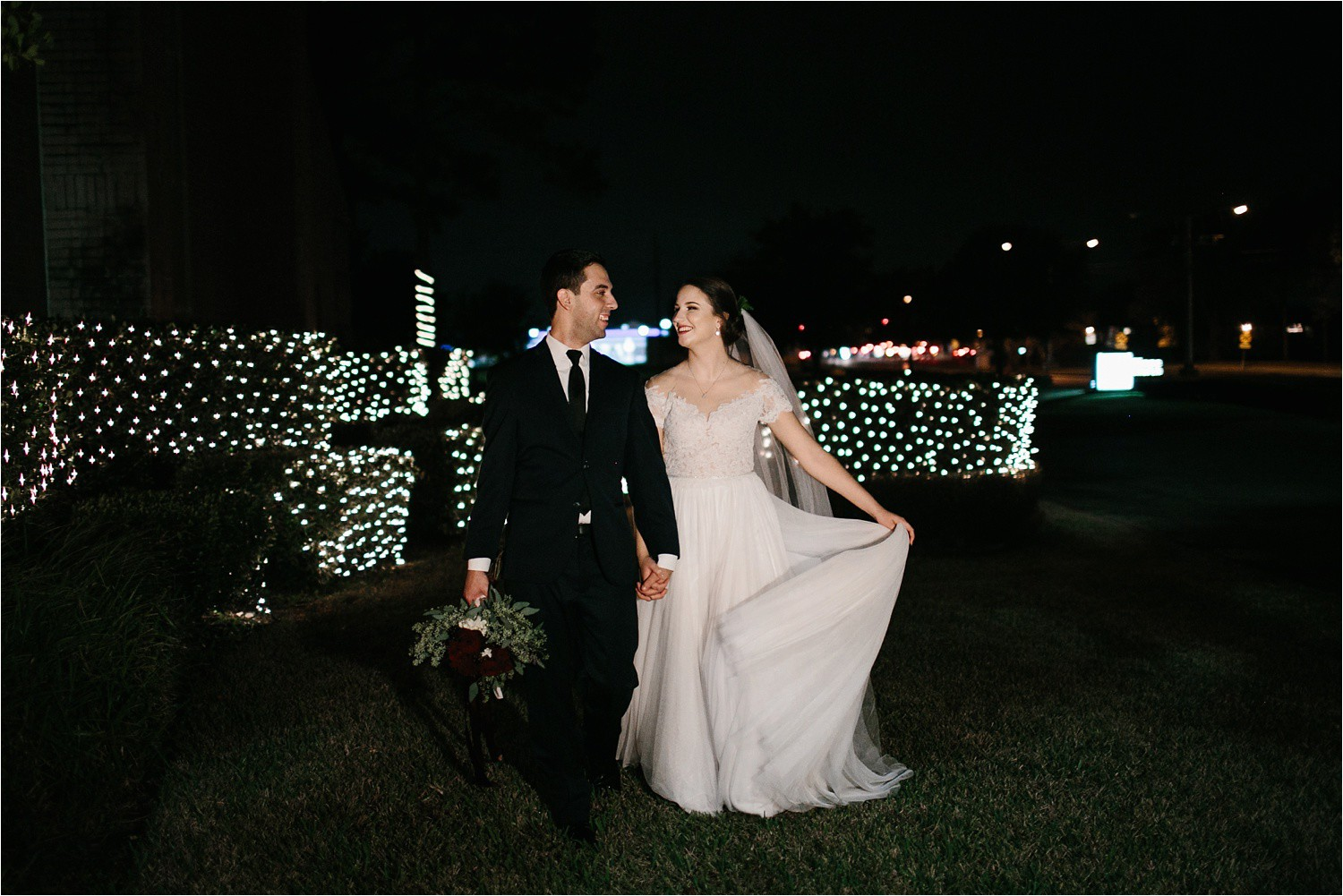 Alaina + Josh __ a wintertime wedding in Houston, TX with Christmas accents and a BHLDN dress by North Texas Wedding Photographer Rachel Meagan Photography _ 54