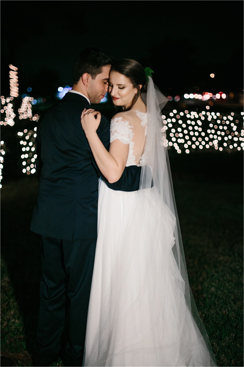 Alaina + Josh __ a wintertime wedding in Houston, TX with Christmas accents and a BHLDN dress by North Texas Wedding Photographer Rachel Meagan Photography _ 55
