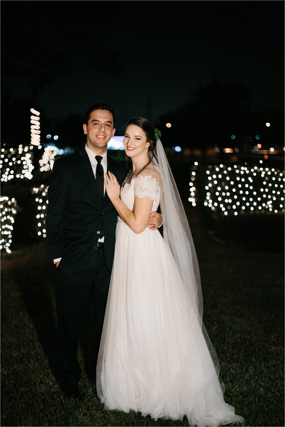 Alaina + Josh __ a wintertime wedding in Houston, TX with Christmas accents and a BHLDN dress by North Texas Wedding Photographer Rachel Meagan Photography _ 57