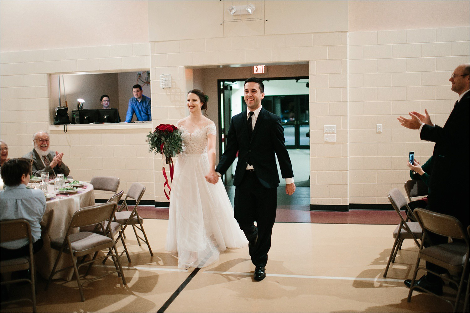 Alaina + Josh __ a wintertime wedding in Houston, TX with Christmas accents and a BHLDN dress by North Texas Wedding Photographer Rachel Meagan Photography _ 60