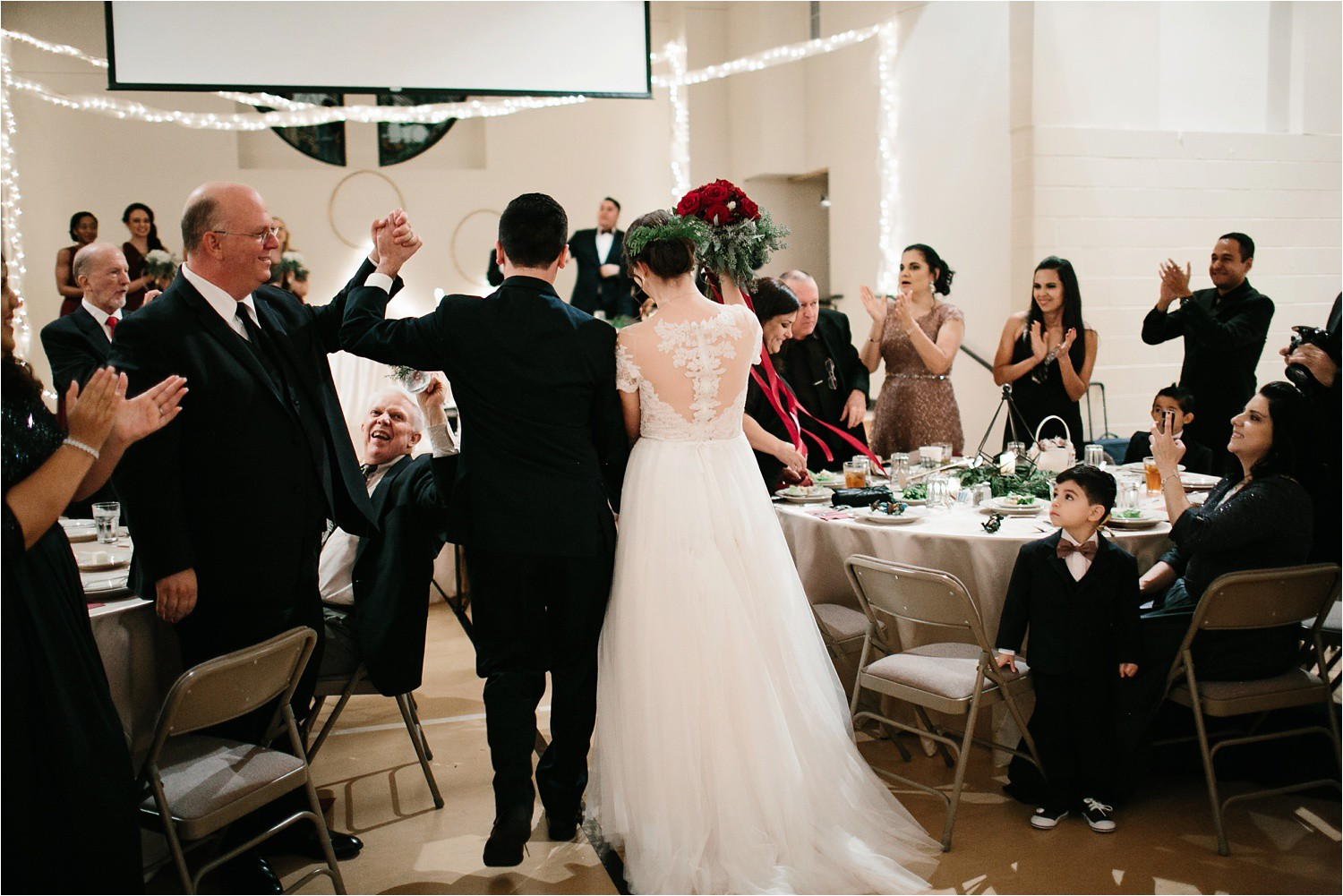 Alaina + Josh __ a wintertime wedding in Houston, TX with Christmas accents and a BHLDN dress by North Texas Wedding Photographer Rachel Meagan Photography _ 61
