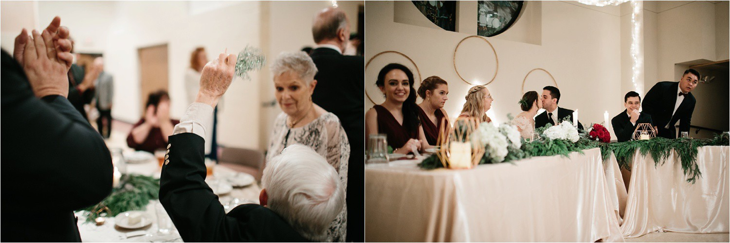 Alaina + Josh __ a wintertime wedding in Houston, TX with Christmas accents and a BHLDN dress by North Texas Wedding Photographer Rachel Meagan Photography _ 62