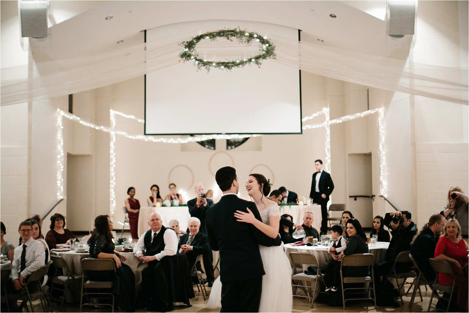 Alaina + Josh __ a wintertime wedding in Houston, TX with Christmas accents and a BHLDN dress by North Texas Wedding Photographer Rachel Meagan Photography _ 63