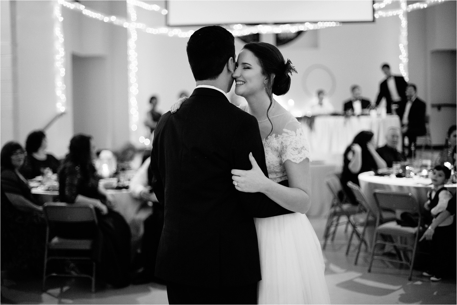 Alaina + Josh __ a wintertime wedding in Houston, TX with Christmas accents and a BHLDN dress by North Texas Wedding Photographer Rachel Meagan Photography _ 65