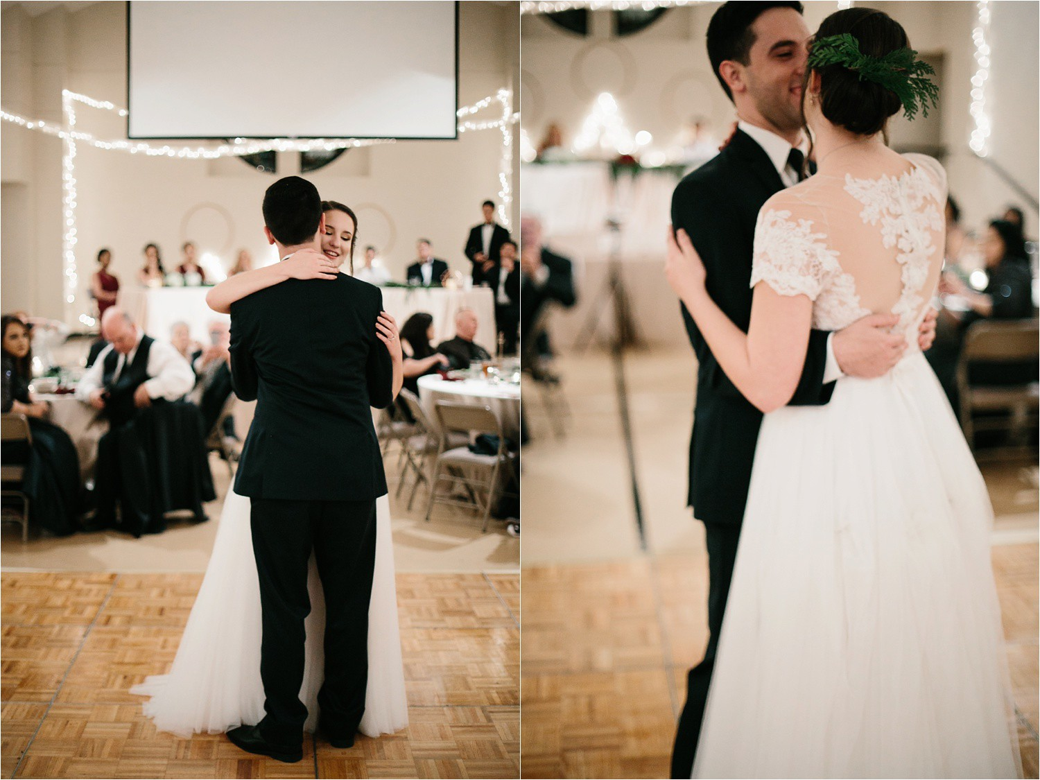 Alaina + Josh __ a wintertime wedding in Houston, TX with Christmas accents and a BHLDN dress by North Texas Wedding Photographer Rachel Meagan Photography _ 66