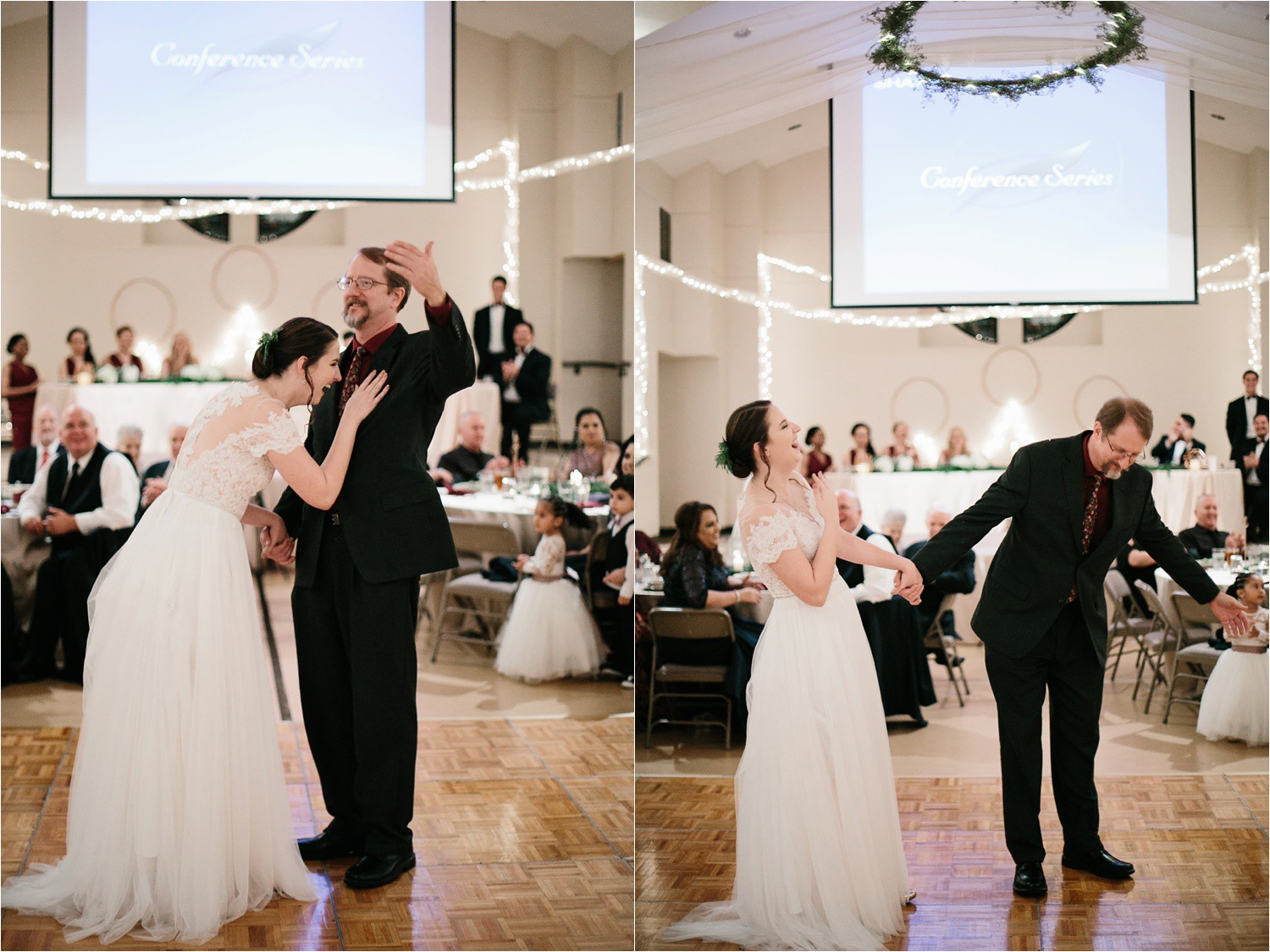Alaina + Josh __ a wintertime wedding in Houston, TX with Christmas accents and a BHLDN dress by North Texas Wedding Photographer Rachel Meagan Photography _ 67