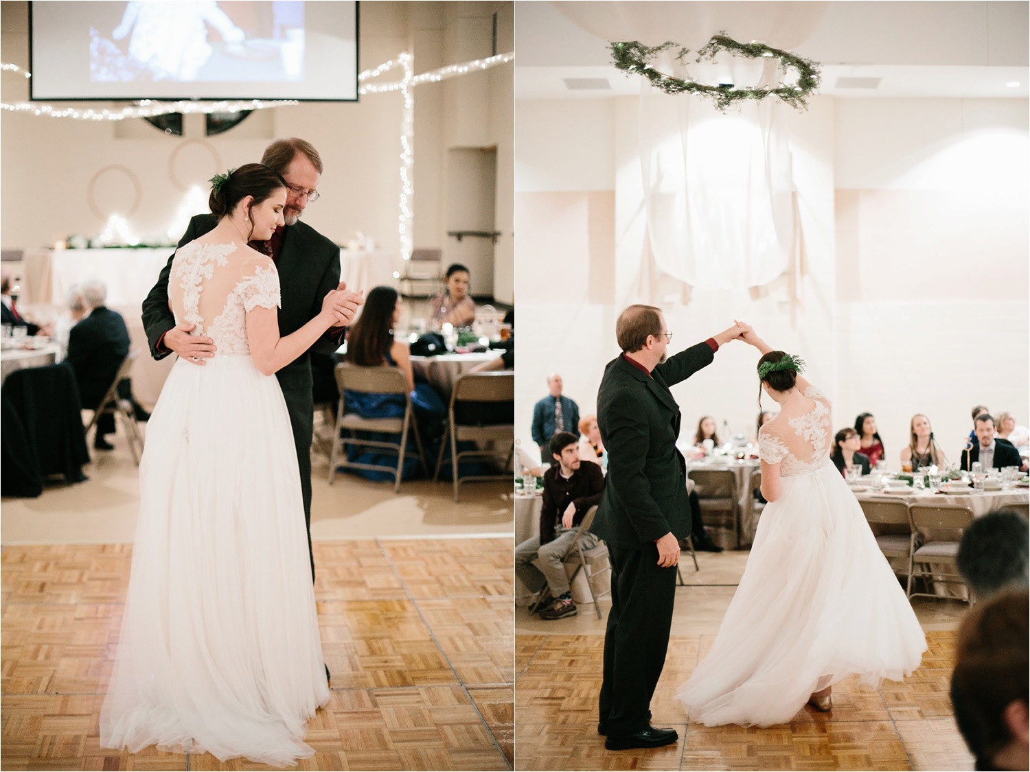 Alaina + Josh __ a wintertime wedding in Houston, TX with Christmas accents and a BHLDN dress by North Texas Wedding Photographer Rachel Meagan Photography _ 70