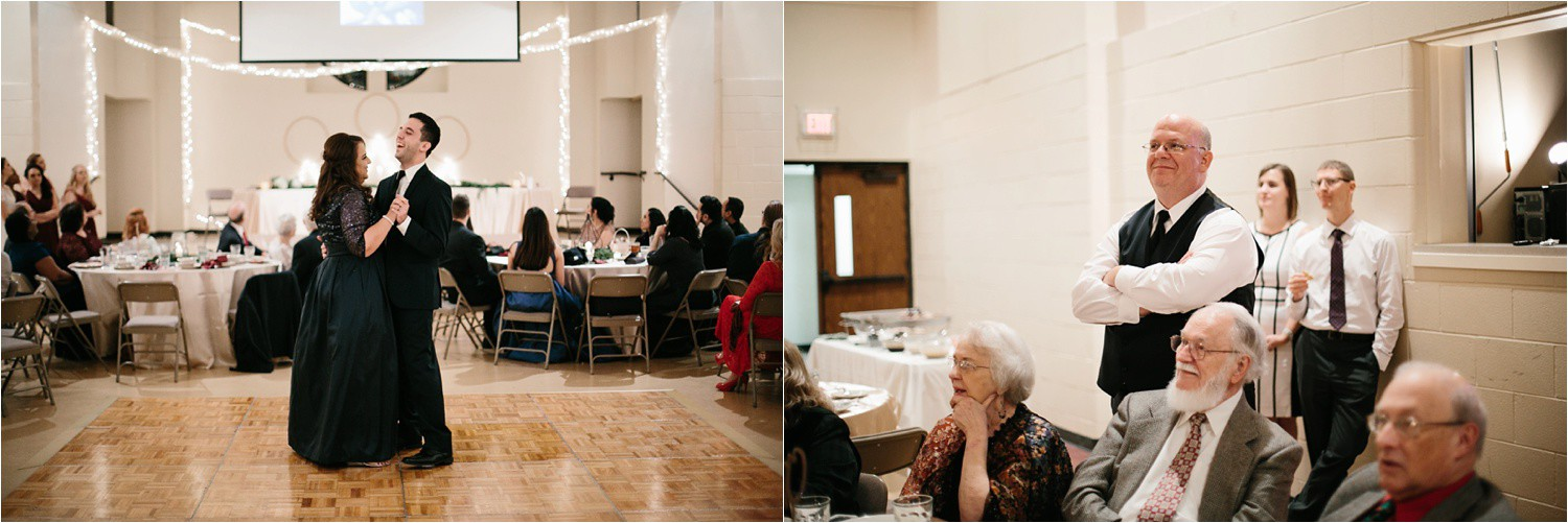 Alaina + Josh __ a wintertime wedding in Houston, TX with Christmas accents and a BHLDN dress by North Texas Wedding Photographer Rachel Meagan Photography _ 72
