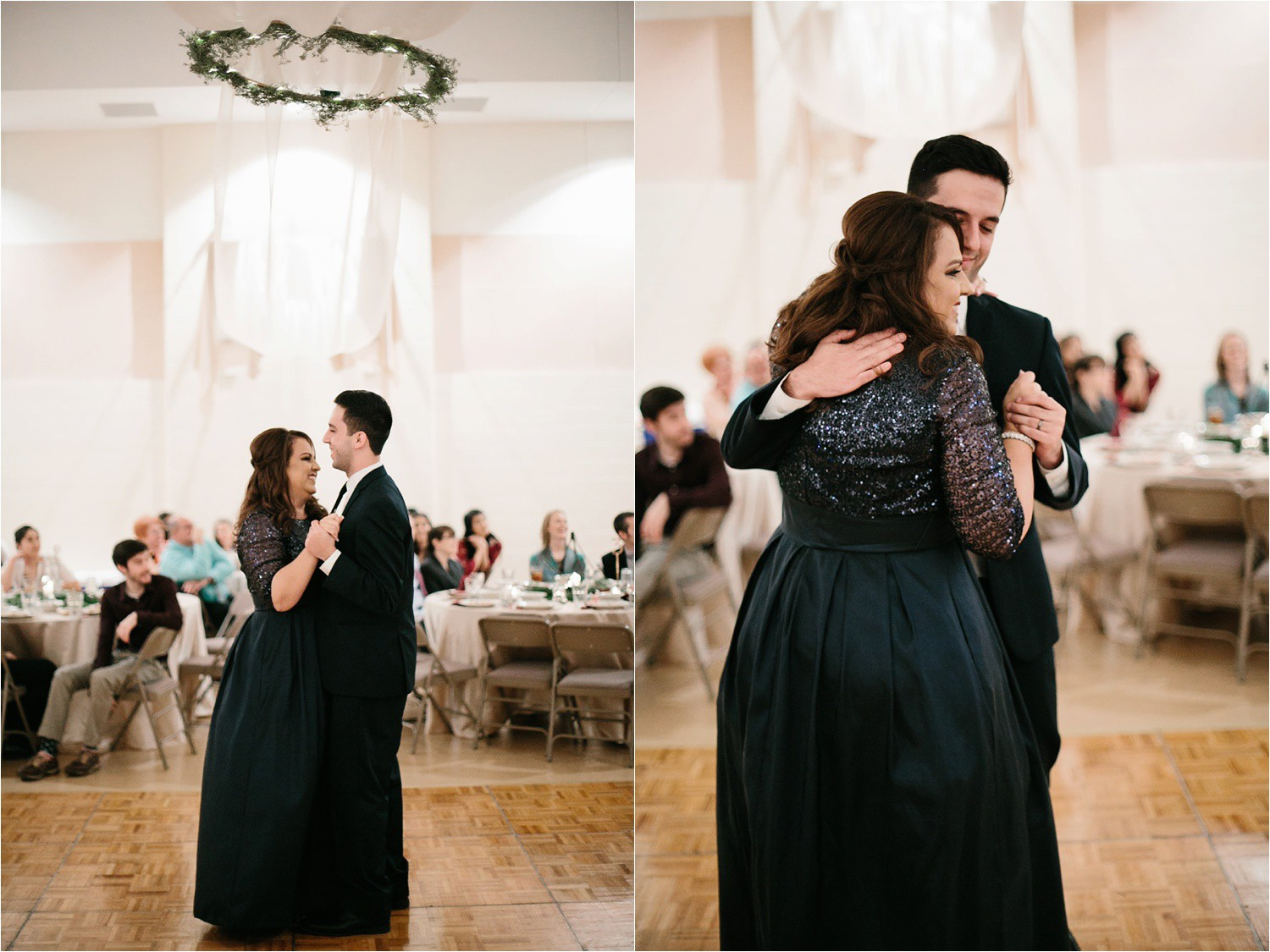 Alaina + Josh __ a wintertime wedding in Houston, TX with Christmas accents and a BHLDN dress by North Texas Wedding Photographer Rachel Meagan Photography _ 73