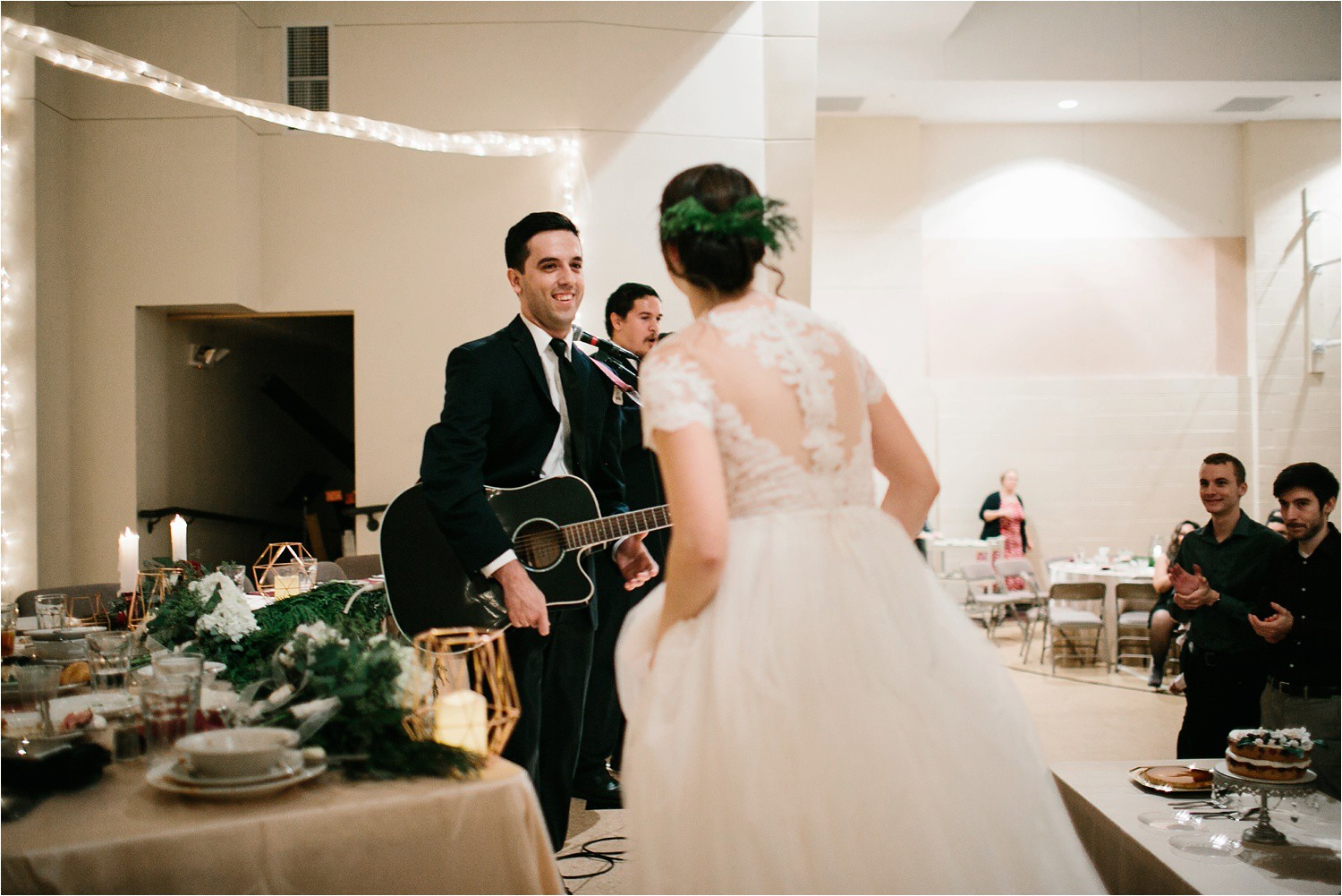 Alaina + Josh __ a wintertime wedding in Houston, TX with Christmas accents and a BHLDN dress by North Texas Wedding Photographer Rachel Meagan Photography _ 84