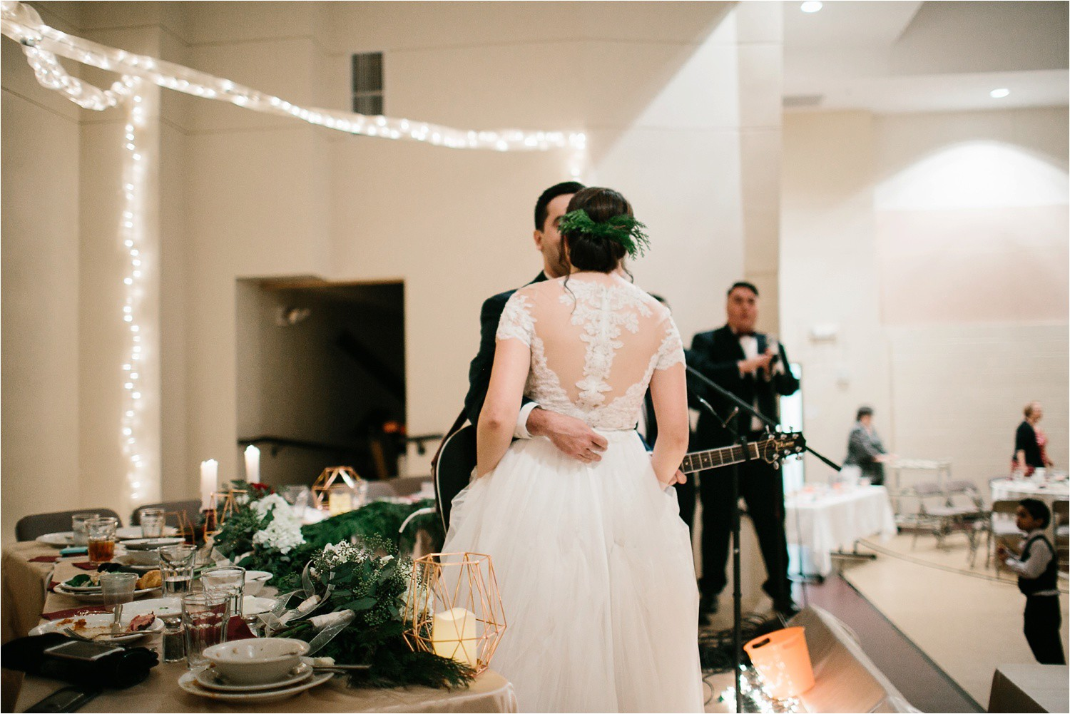 Alaina + Josh __ a wintertime wedding in Houston, TX with Christmas accents and a BHLDN dress by North Texas Wedding Photographer Rachel Meagan Photography _ 85