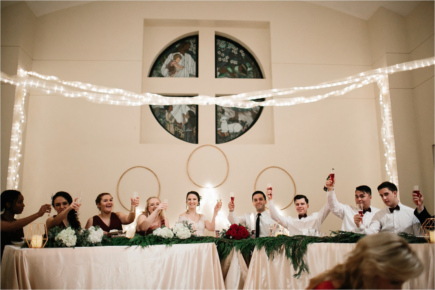 Alaina + Josh __ a wintertime wedding in Houston, TX with Christmas accents and a BHLDN dress by North Texas Wedding Photographer Rachel Meagan Photography _ 86