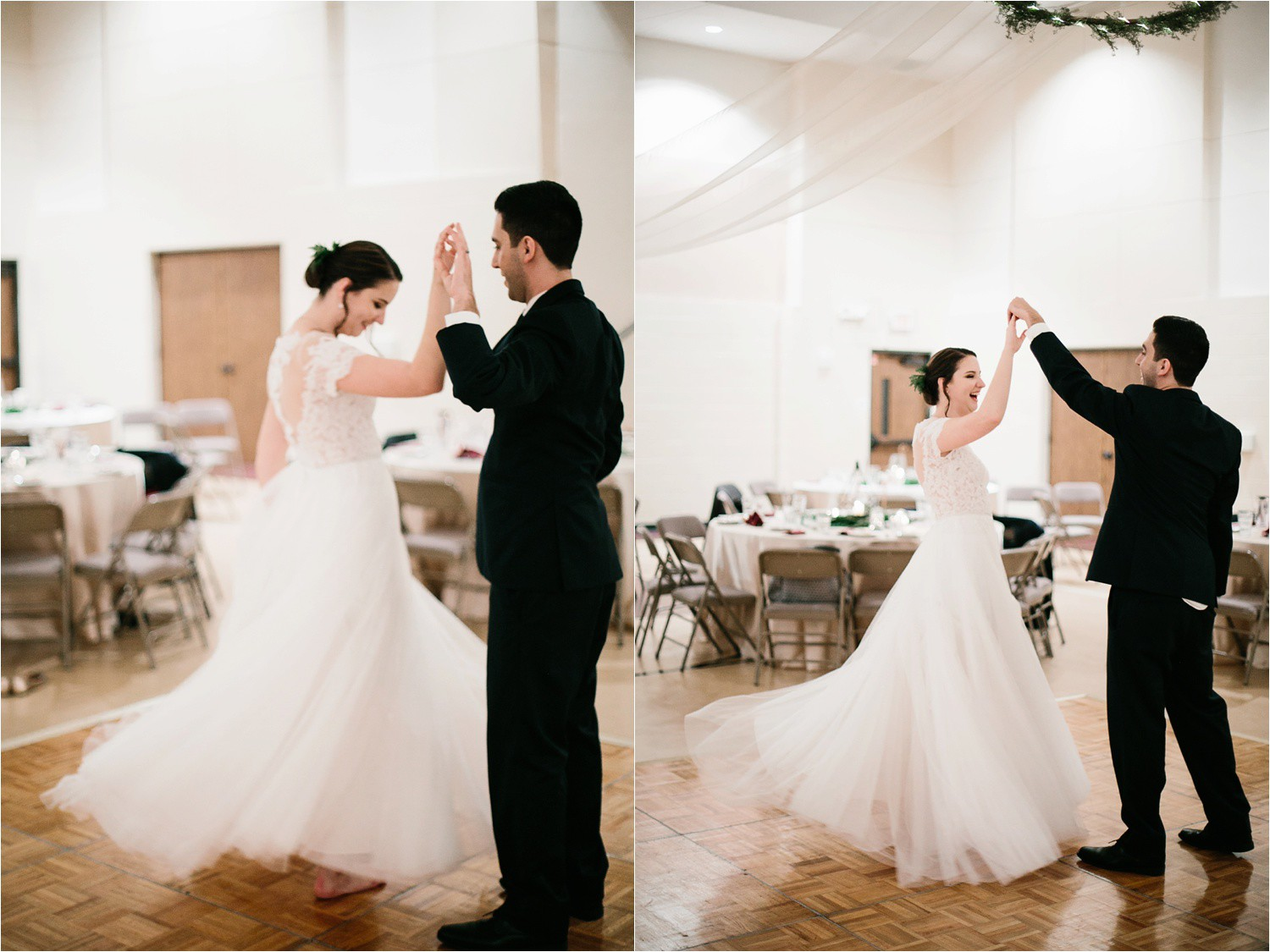 Alaina + Josh __ a wintertime wedding in Houston, TX with Christmas accents and a BHLDN dress by North Texas Wedding Photographer Rachel Meagan Photography _ 91
