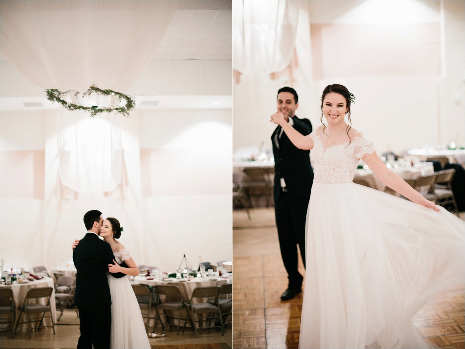 Alaina + Josh __ a wintertime wedding in Houston, TX with Christmas accents and a BHLDN dress by North Texas Wedding Photographer Rachel Meagan Photography _ 92