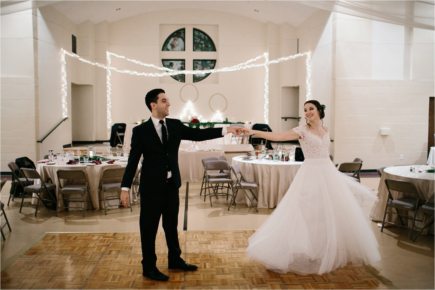 Alaina + Josh __ a wintertime wedding in Houston, TX with Christmas accents and a BHLDN dress by North Texas Wedding Photographer Rachel Meagan Photography _ 93