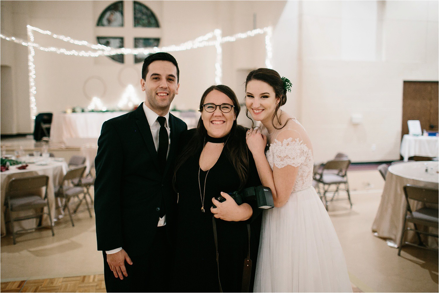 Alaina + Josh __ a wintertime wedding in Houston, TX with Christmas accents and a BHLDN dress by North Texas Wedding Photographer Rachel Meagan Photography _ 95