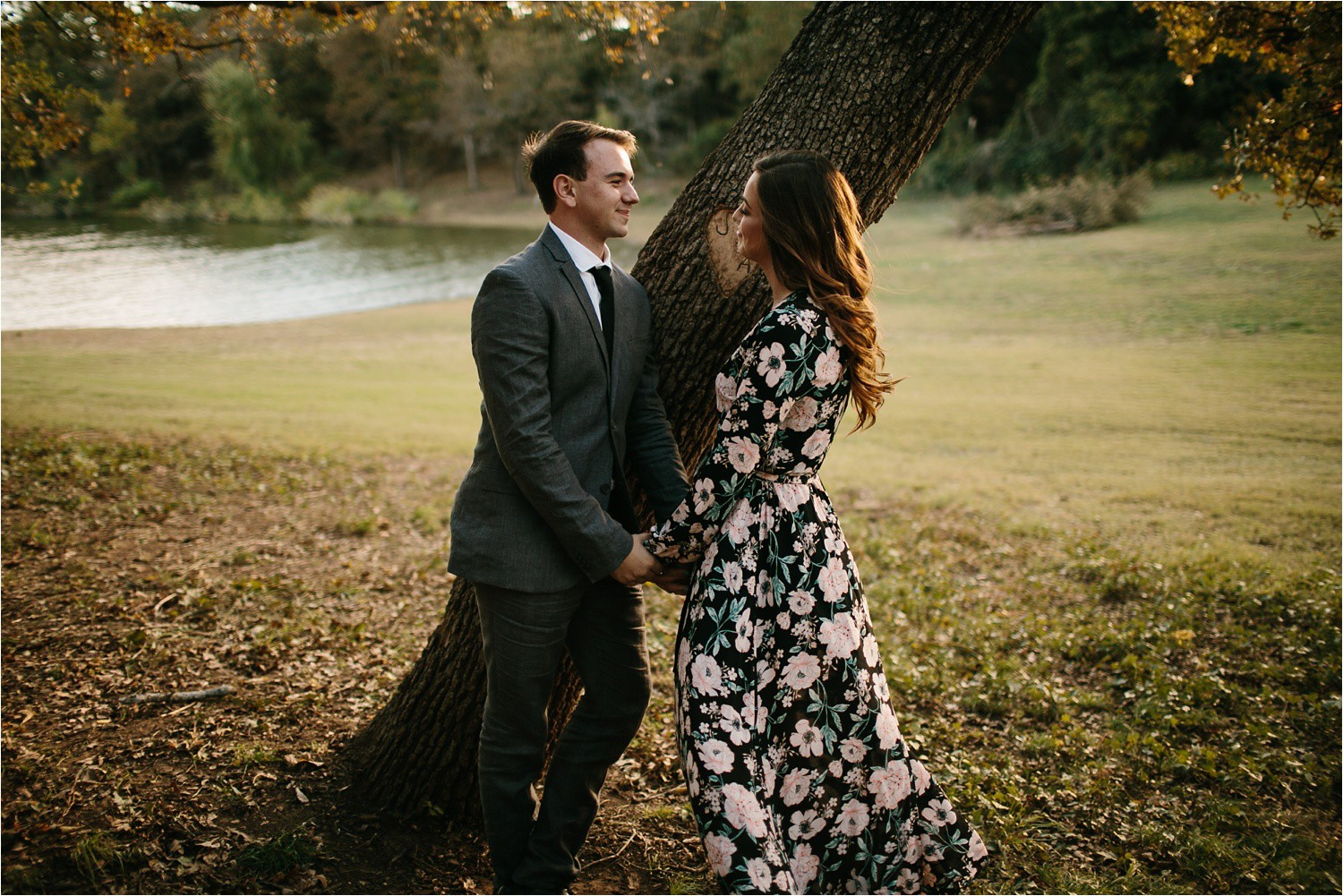 Aleta + Sabian __ a windy lakeside nature engagement session by North Texas Wedding Photographer Rachel Meagan Photography _01