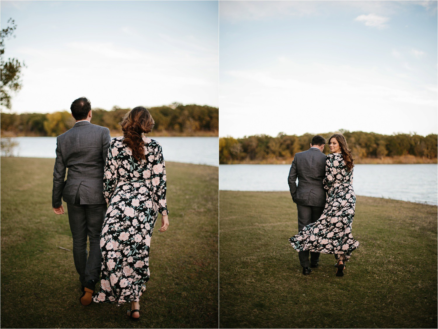 Aleta + Sabian __ a windy lakeside nature engagement session by North Texas Wedding Photographer Rachel Meagan Photography _16