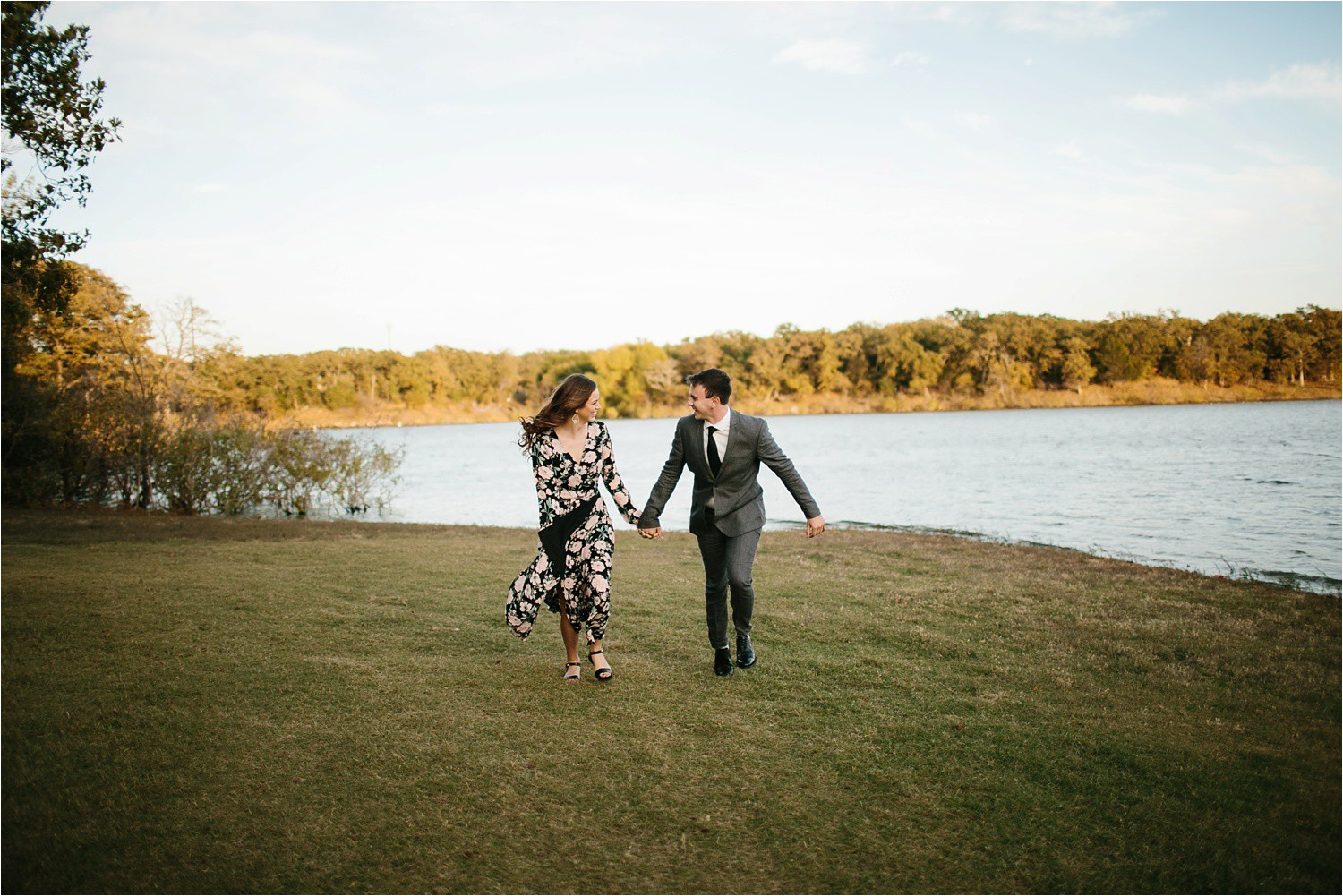 Aleta + Sabian __ a windy lakeside nature engagement session by North Texas Wedding Photographer Rachel Meagan Photography _20