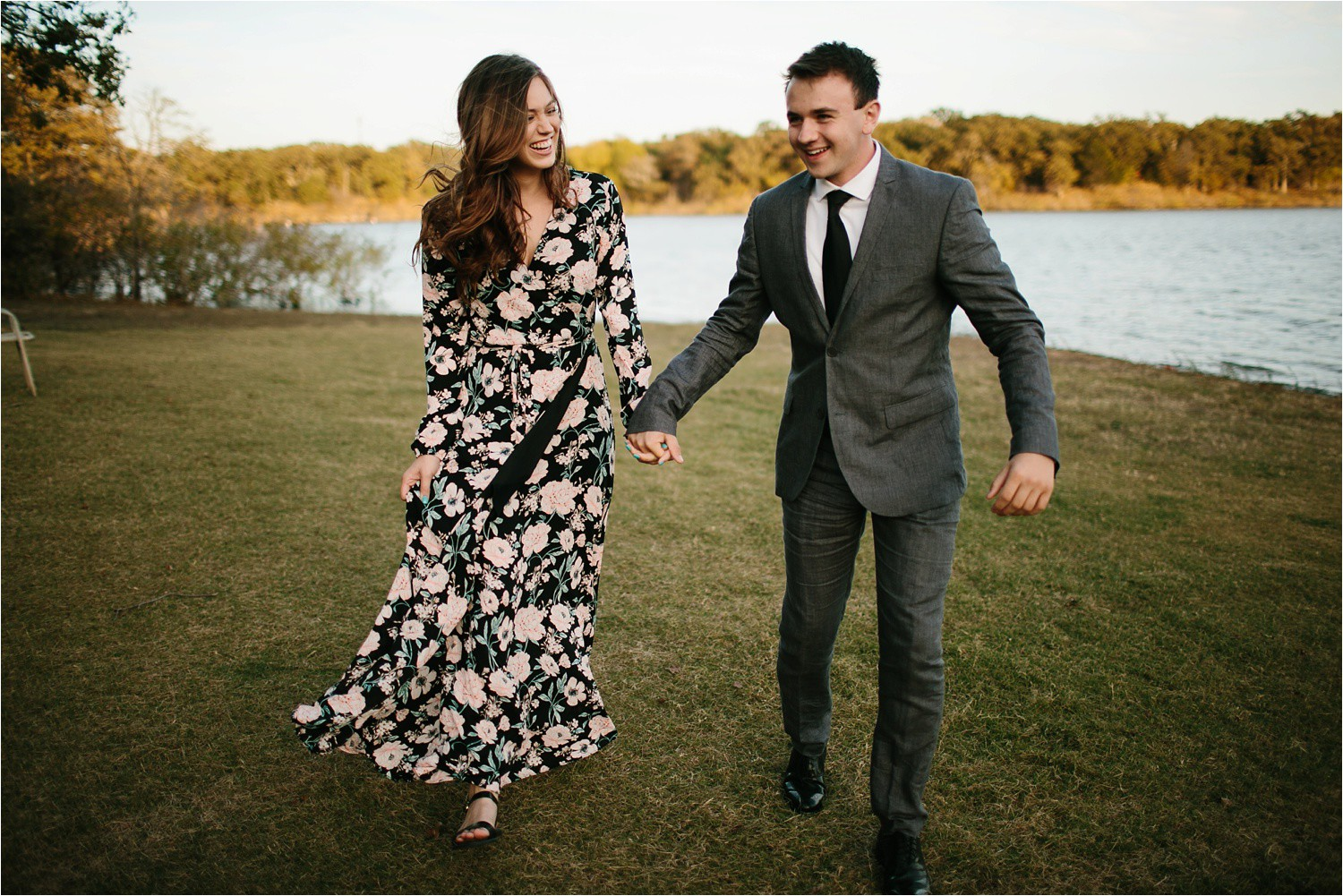 Aleta + Sabian __ a windy lakeside nature engagement session by North Texas Wedding Photographer Rachel Meagan Photography _21