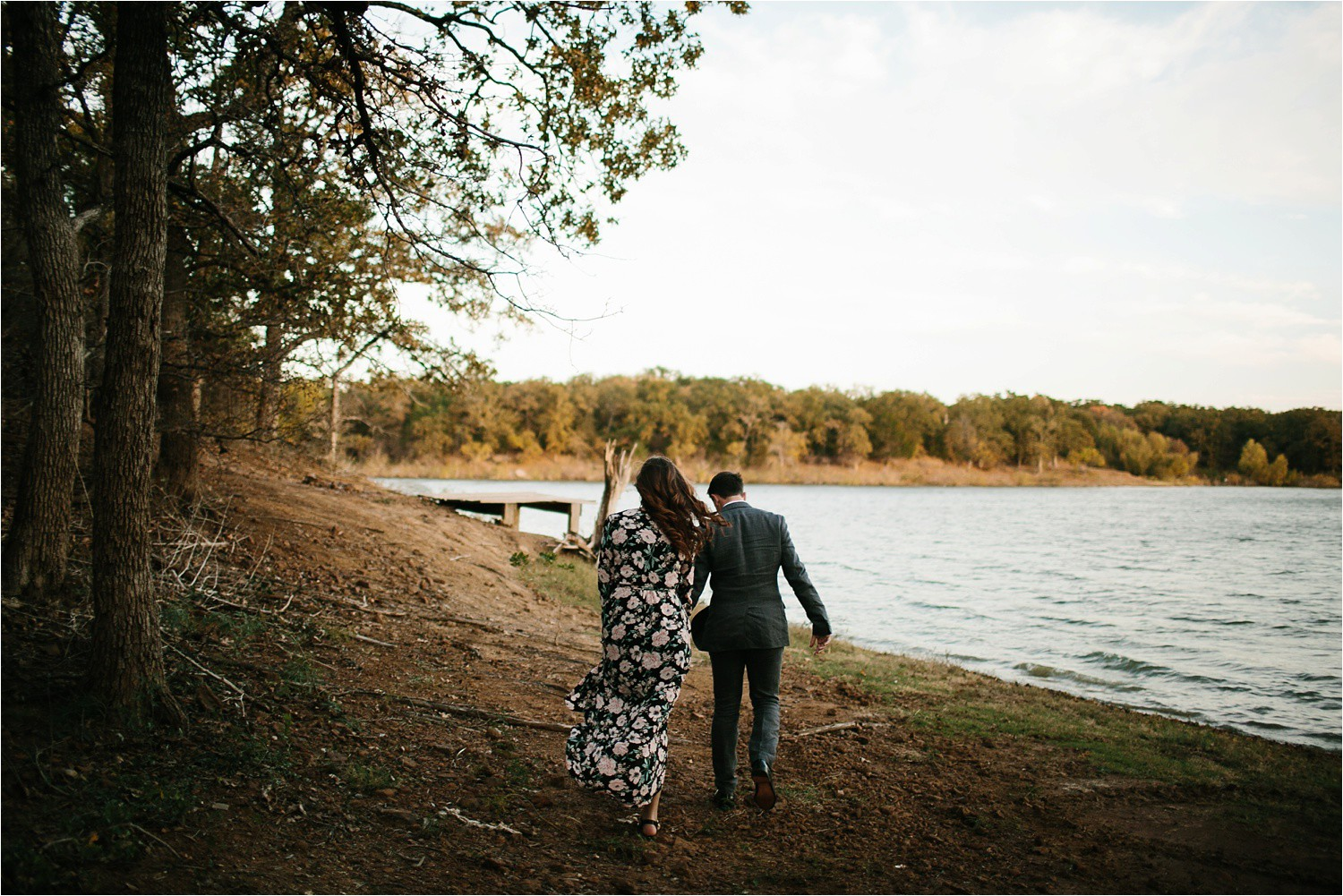 Aleta + Sabian __ a windy lakeside nature engagement session by North Texas Wedding Photographer Rachel Meagan Photography _35