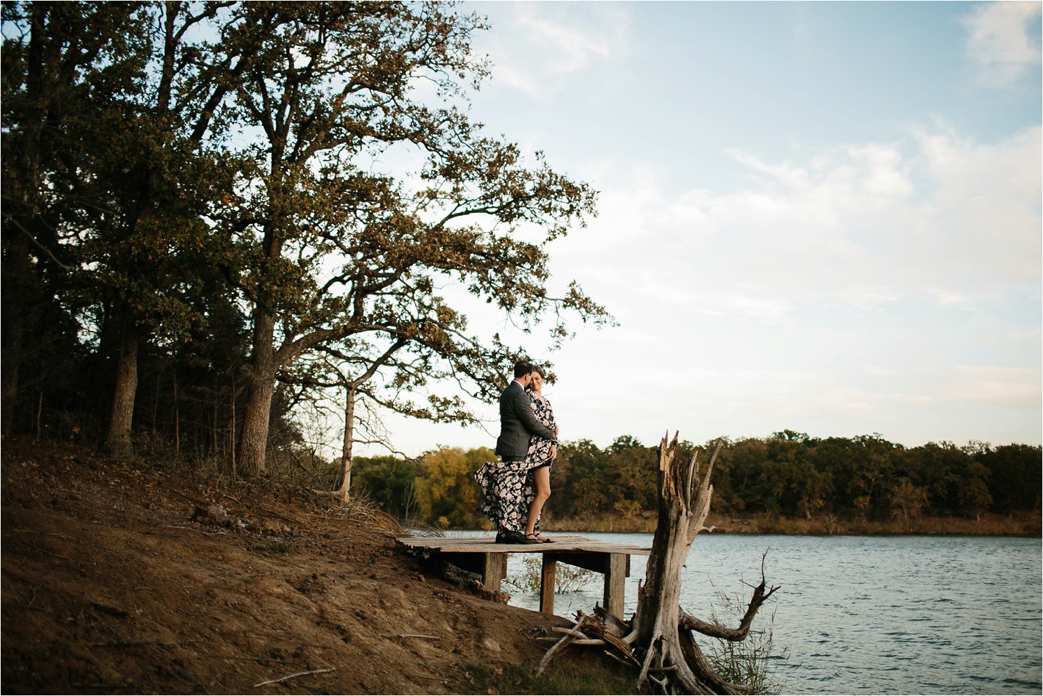 Aleta + Sabian __ a windy lakeside nature engagement session by North Texas Wedding Photographer Rachel Meagan Photography _36